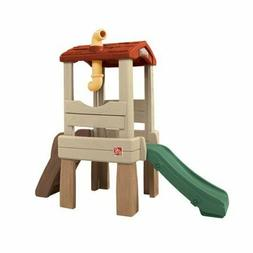 Step2 Lookout Treehouse Kids Outdoor Playset Climber with Sl