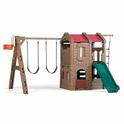 Step2 Naturally Playful Adventure Lodge Swing Set and Play C