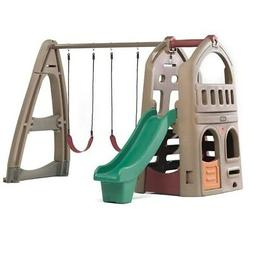 naturally playful playhouse climber swing