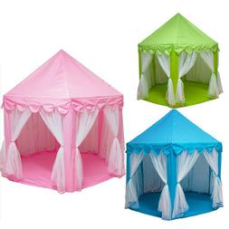Newly Portable Foldable Princess Castle Play Tent Children F