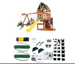 Backyard Play Set DIY Custom Kids Swing Slide Playhouse Outd
