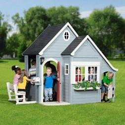 outdoor kids cedar playhouse spring cottage play