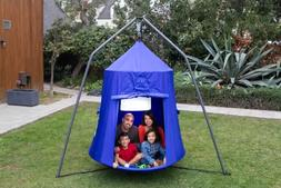 Outdoor Kids Hanging Play Tent Swing Teepee House Playhouse