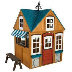 Outdoor Playhouse Seaside Wood Cottage Plastic-molded Scallo