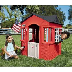 Outdoor Playhouse Toddler Kids Cottage Boys Girls Home Prete