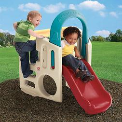 Outdoor Playset W/ Slide Toddler Kids Recreational Playgroun