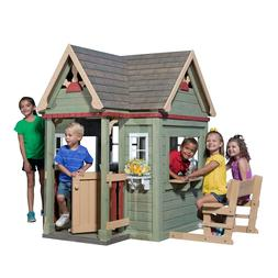 "Outdoor Wooden Playhouse Victorian-style 6' 2""  x 5' 5""  x 5"