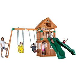 Backyard Discovery Outing All Cedar Wood Playset Swing Set