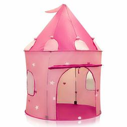 Pink Princess Castle Tent Collapsible Playhouse Indoor Outdo