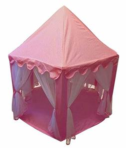 Girls Pink Princess Tent Castle Cute Playhouse Indoor outdoo
