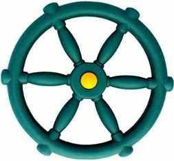 Jungle Gym Kingdom Pirate Ships Wheel Green Swings Slides Gy