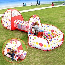 Soulstore Baby Pit Balls, Kids Pop Up Play House Tent Tunnel
