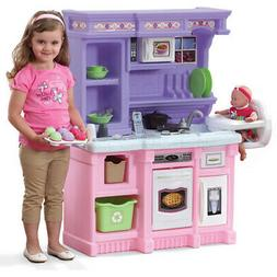 play kitchen pink purple cooking