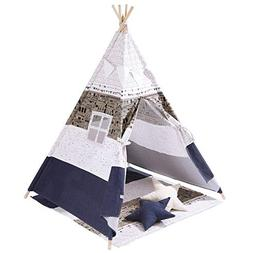 SONGMICS Kids Play Teepee, Portable Play Tent for Toddlers,