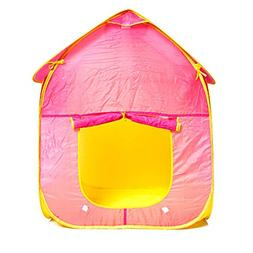Kids Play Tent Play House Indoor Outdoor - in Pink Foldable