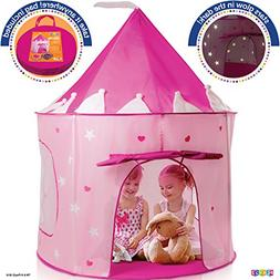 Play22 Play Tent Princess Castle Pink - Kids Tent Features G