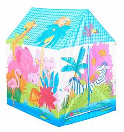Kids Play Tent Rain Forest Theme Pretend Playhouse for Indoo