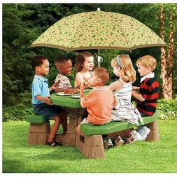 Playful Picnic Table 60 Inch Umbrella Kids Children Playhous