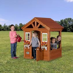 Playhouse Backyard Discovery Columbus All Cedar Wood Kids Fu