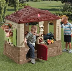 Playhouse For Kids Outdoor Toy Home Fun Pretend Realistic En