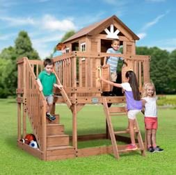 Playhouse For Kids Outdoor Wooden Play House Big Stairs Back