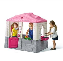 Playhouse Kids Outdoor Play Backyard Toy Children Neat Tidy