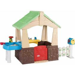 Playhouse Toy for Kids Outdoor Play Deluxe Home & Garden Hou