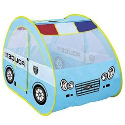 Police Car Tent Playhouse for Kids Private Game Space Toys f