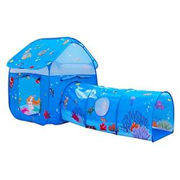 ALPIKA Kids Pop-up Tent Playhouse with Children Play Crawl T