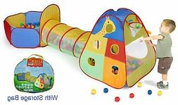 Utex Pop up Kids Play Tent with Tunnel and Ball Pit Indoor a