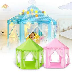 Portable Girls Princess Castle Tent In/Outdoor Kids Child Pl