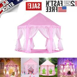 Portable Princess Castle Playhouse Pink Indoor/Outdoor Fairy