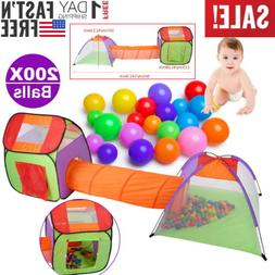 Portable Toddler Kids Play Tent Crawl Tunnel Indoor/Outdoor