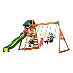 prescott cedar wood playset swing