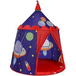SONGMICS Prince Castle Play Tent for Boys Toddler, Indoor an
