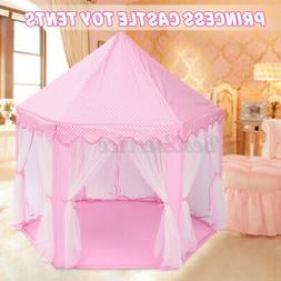 Princess Castle Play House Indoor/Outdoor Kids Play Tent for