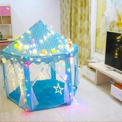 Princess Castle Play House Indoor/Outdoor Kids Play Tent & 6
