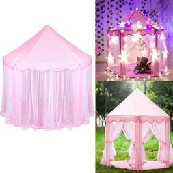 Princess Castle Play House Large Indoor/Outdoor Kids Play Te
