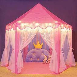 Wilwolfer Princess Castle Play Tent Large Kids Play House wi