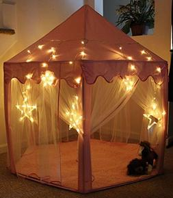 LHinsights Princess Castle Play Tent With LARGE STAR LIGHTS,