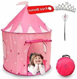 Princess Castle Play Tent Glowing Stars Window In/Outdoor Pl