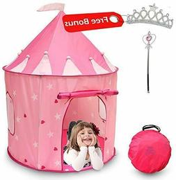 Princess Castle Girls Play Tent Indoor/Outdoor Playhouse for