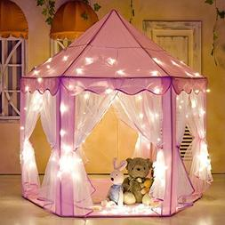 ABSPACE Girls Princess Castle Play Tent Children Large Playh