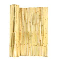 Natural Rolled Bamboo Fence 3/4 in. D x 6 ft. H x 8 ft. Gard