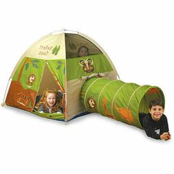 Pacific Play Tents 20435 Kids Safari Fun Dome Tent Crawl Tun