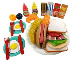 Liberty Imports Sandwich Fast Food Cooking Play Set for Kids
