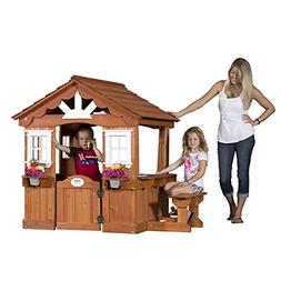 Backyard Discovery Scenic All Cedar Outdoor Wooden Playhouse