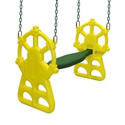 Backyard Discovery 2012com Ship's Wheel Glider, Green/Yellow