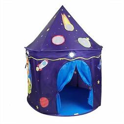 Space Castle Play Tent Kids Playhouse Children Playroom Fold
