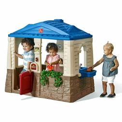 Step2 Neat And Tidy Cottage Blue Playhouse Toddlers Kids Chi